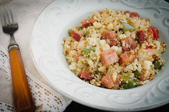 Creole Ham & Cauliflower Rice