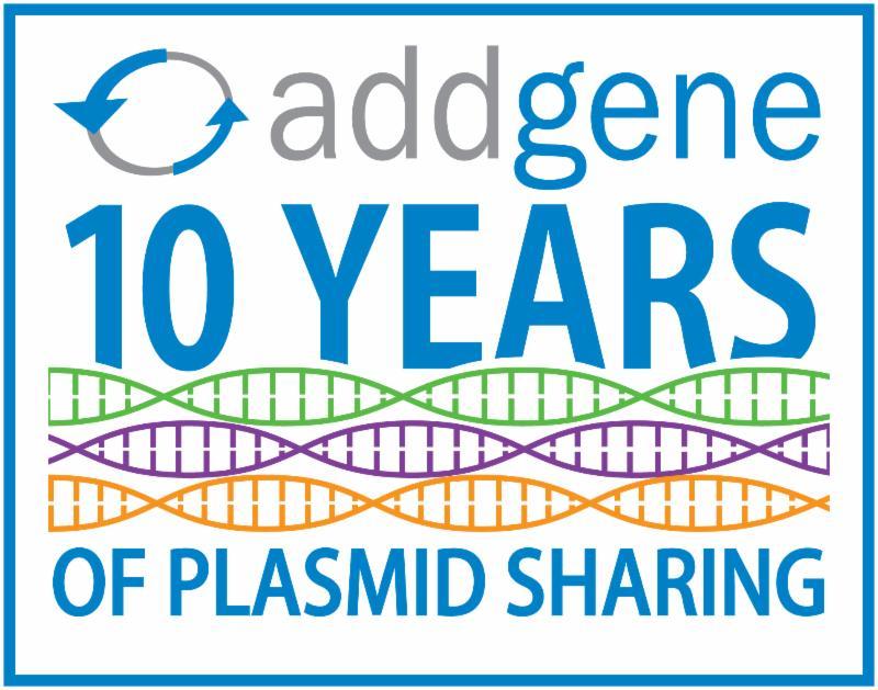 Addgene 10 Years of Plasmid Sharing