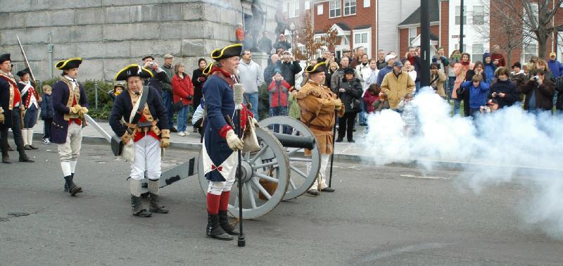 Patriots Week Battle Scene