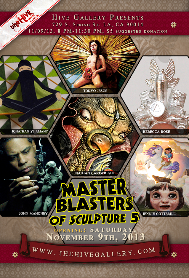 Post card of the Hive Gallery's, Master Blasters of Sculpture 5