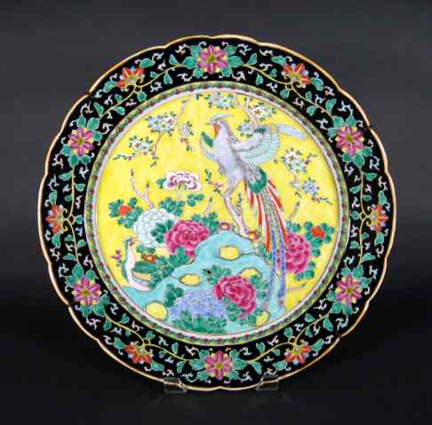 large antique Chinese Imari charger