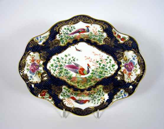 antique English handpainted bird plates by Booth's