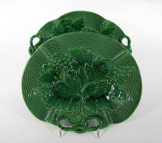Circa 1815 Antique English Davenport Majolica Dishes