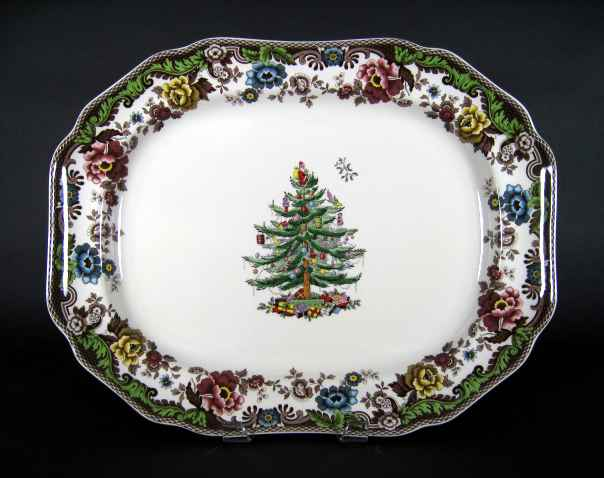 Large Spode Christmas Tree Platter