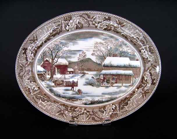 Large Johnson Brothers Turkey Platter