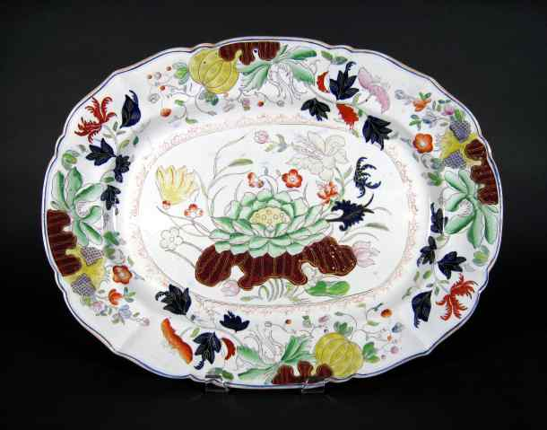 large antique English Staffordshire platter circa 1840