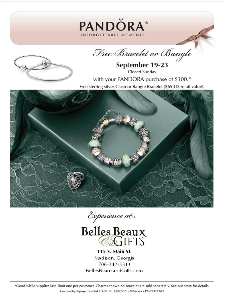 Pandora Free Bracelet Event at Belles Beaux & Gifts