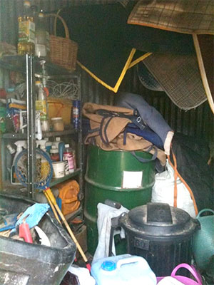 messy tack room