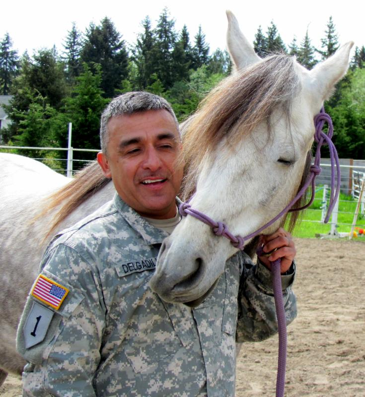 veteran with horse