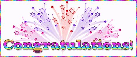 congratulations fireworks