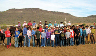 Participants in the Arizona Cowboy Mounted Shooting