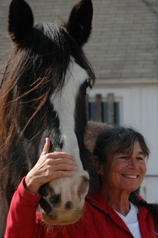 Jackie Stevenson with horse