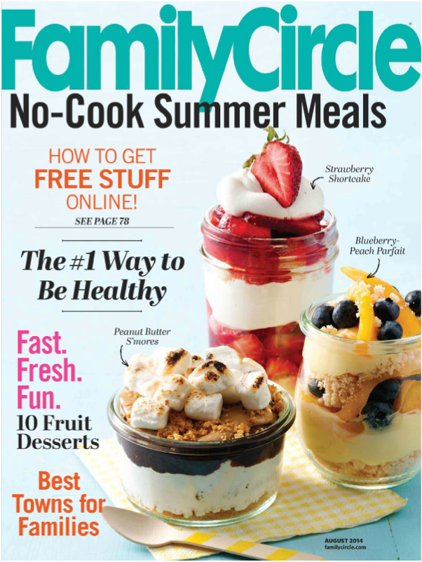 Family Circle magazine cover, August 2014