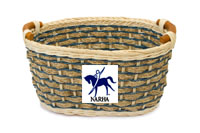 Photo of an empty NARHA basket