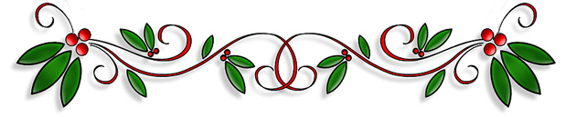 green and red holly banner