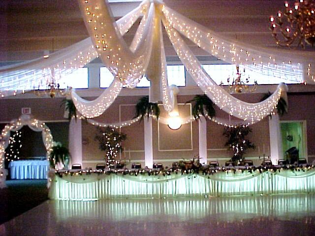 Fabric & Lights Canopy Dance Floor Decor $375 - $450