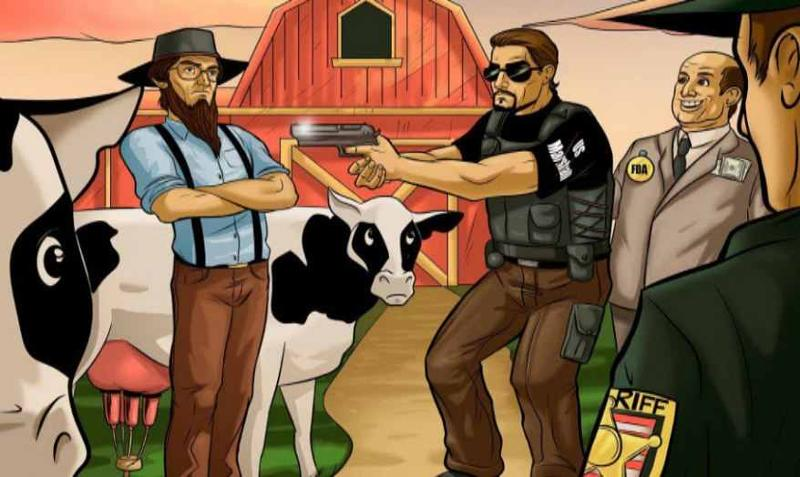 Police raid on local farmer