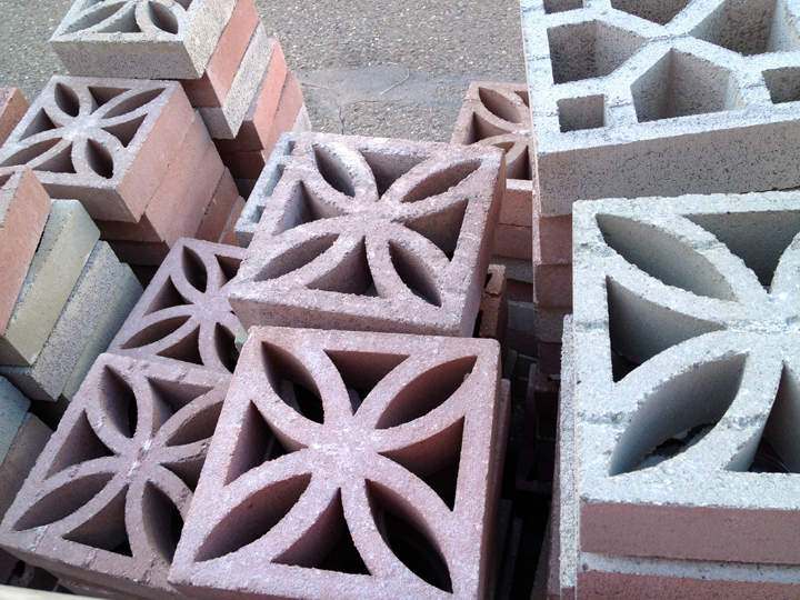 Cinder Blocks. Decorative ...