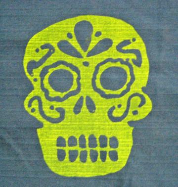DIY Silkscreen Skull