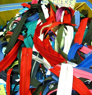 SCRAP zippers