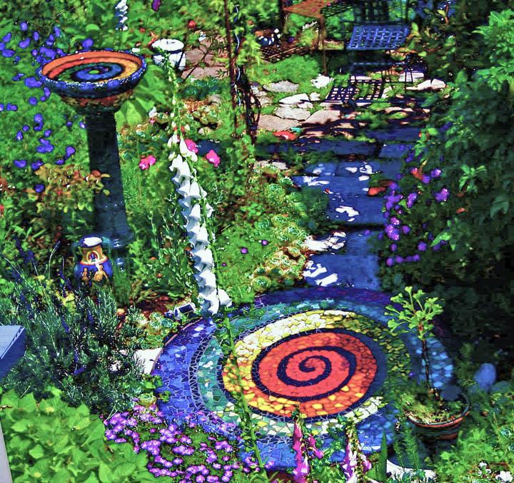 Jane Schafgans garden mosaics