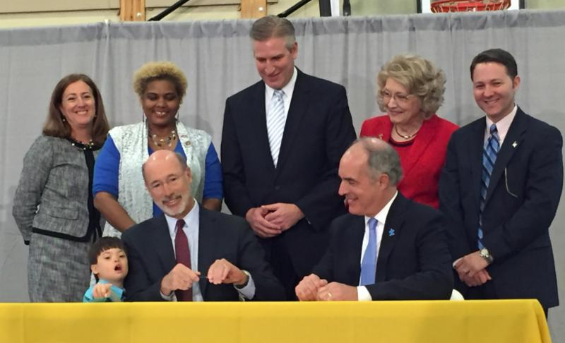 Governor Wolf signs ABLE bill.