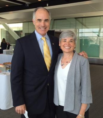 PATF CEO Susan Tachau with Senator Casey
