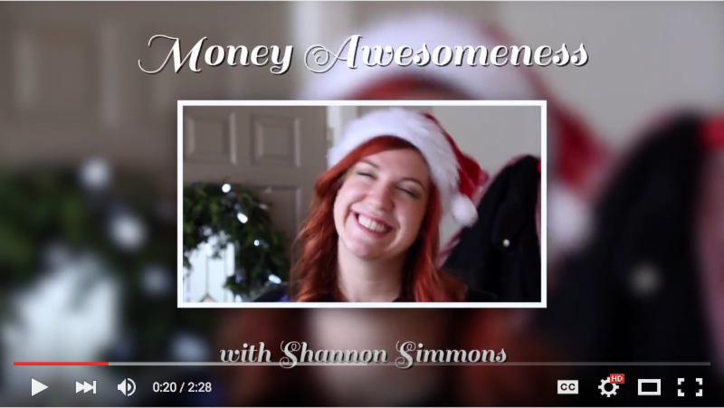 Screen shot of Youtube video Money Awesomeness with Shannon Simmons_ Holiday Spending