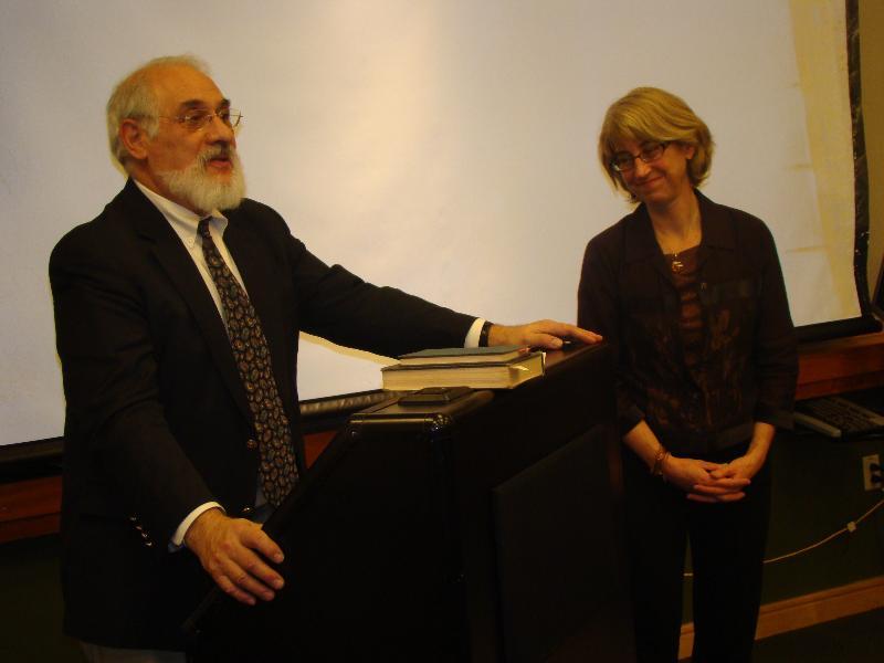 Ginny Chomitz and Board Chair David Link