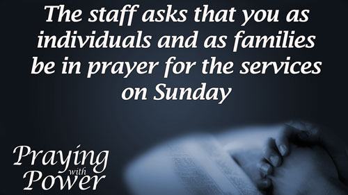 Prayer for Services