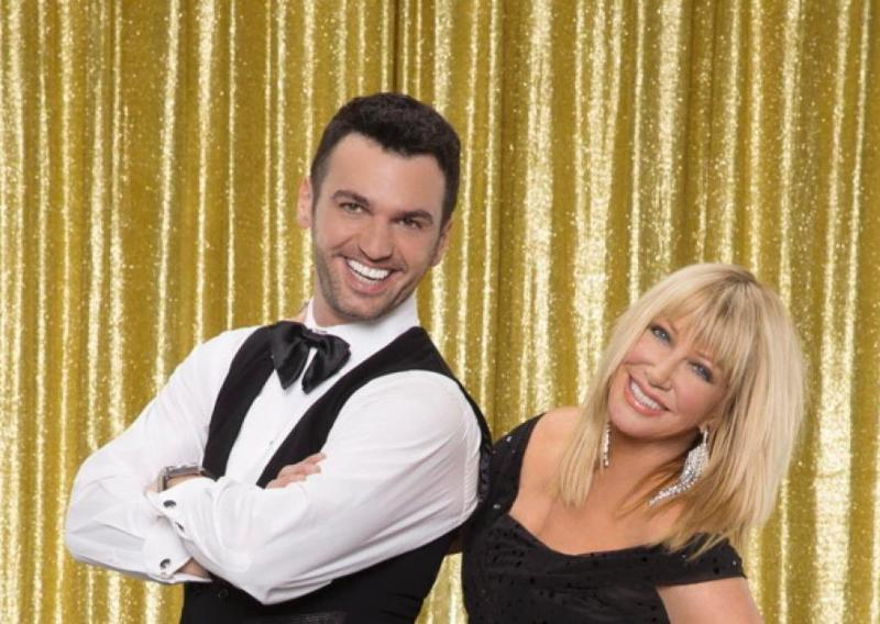 MITM Listener Suzanne Somers with dancing partner Tony Dovolani