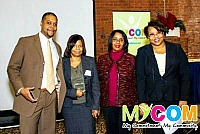 MyCom Award Winners Mike Mathews and Billie Osborne Fears with Robin Martin & Lisa Bottoms