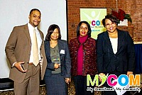 MyCom Award Winners Mike Mathews and Billie Osborne Fears with Robin Martin & Lisa Bottoms