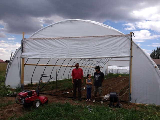 Truchas Hoop house, after photo