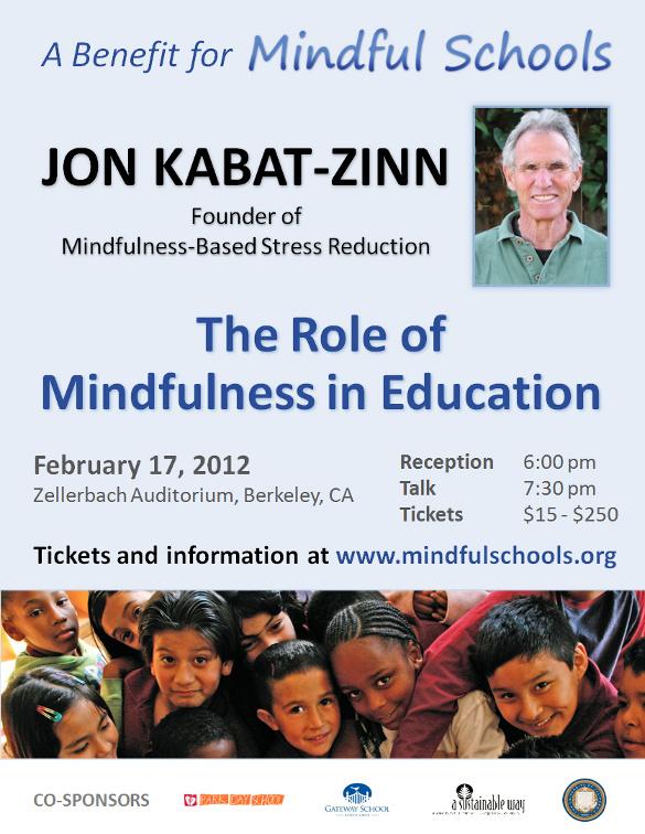 Jon Kabat Zinn Benefit Poster