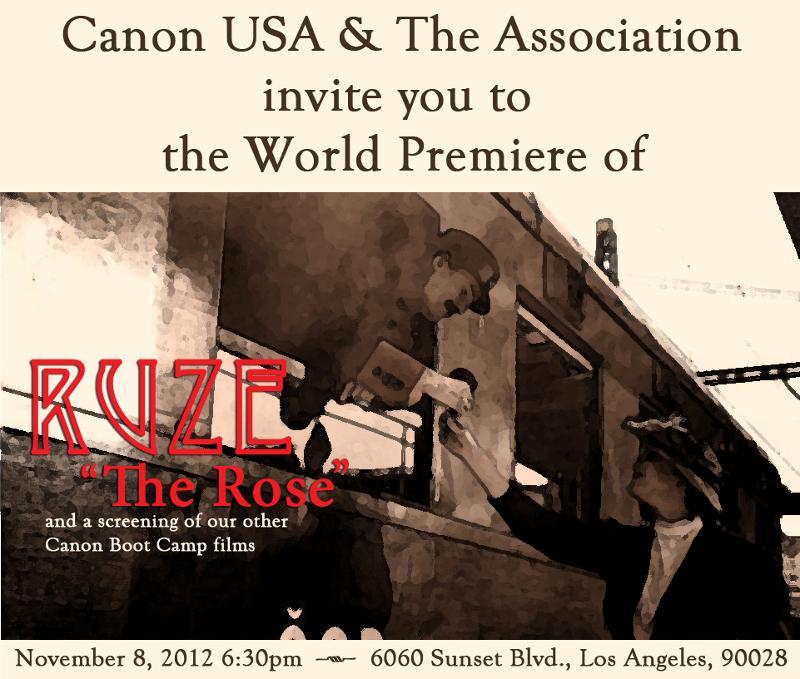 The Rose Premiere Invitiation