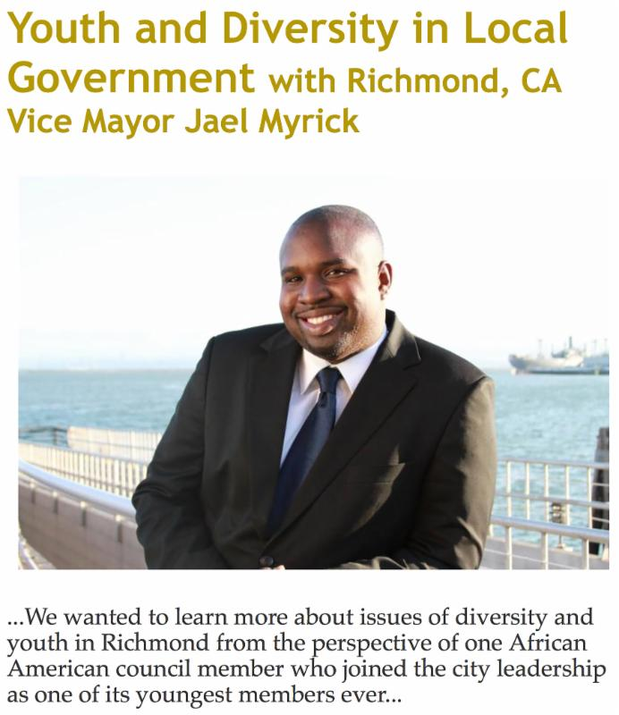 Youth and Diversity in Local Government with Richmond_ CA Vice Mayor Jael Myrick