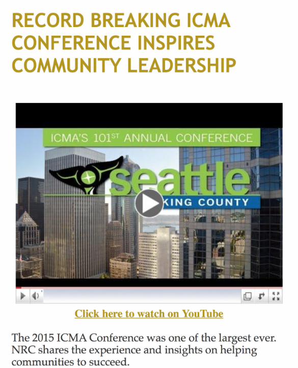 Record Breaking ICMA Conference Inspires Community Leadership