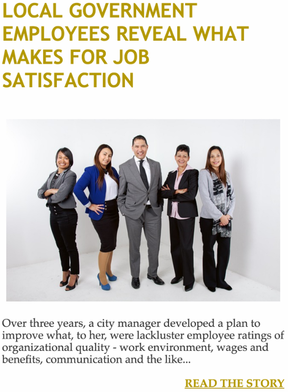 Local Government Employees Reveal What Makes for Job Satisfaction