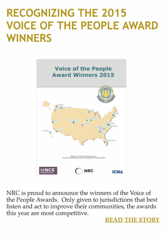 Recognizing the 2015 Voice of the People Award Winners