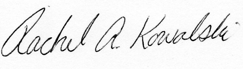 Rachel A. Kowalski Signature