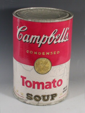 ceramic Cambell's soup can