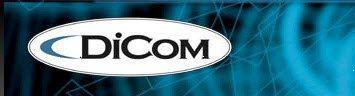DiCom Logo Blue Web Background