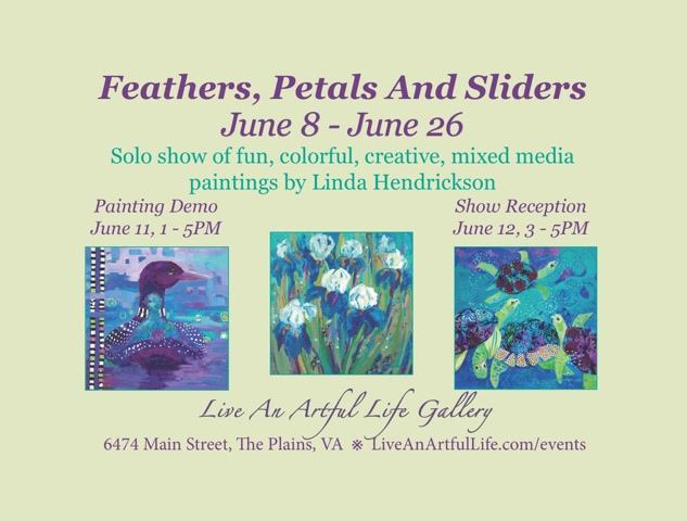 Show Invitation for Linda Hendrickson solo show