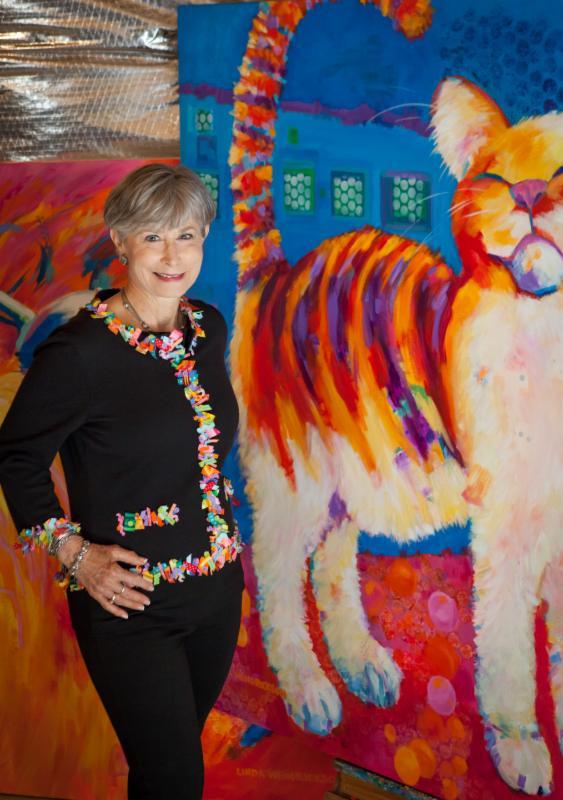 Nemours Hospital canvases and Linda Hendrickson
