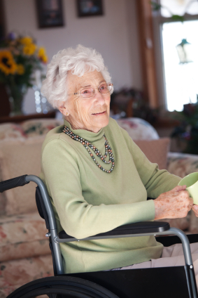 Senior Lady in Wheelchair