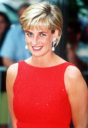 Princess Di red dress
