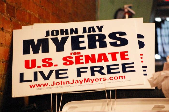 John Jay Myers Yard Signs
