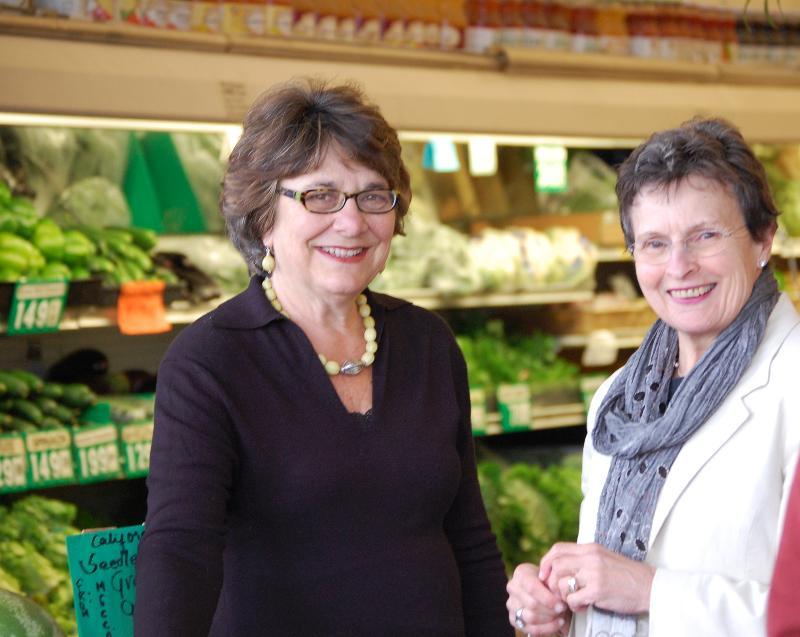 Shirley Haberfeld and Pat Sussman at Yasai