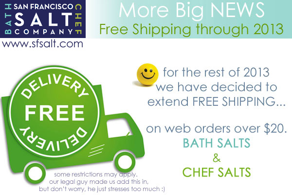 free shipping on all sea salts 2013